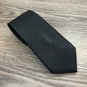 Banana Republic Solid Black Polka Dot Slim Tie